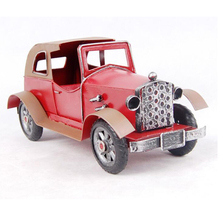 Handmade hot sale coloured drawing ironwork retro wecker car model originality decoration good birthday gift to dad father daddy