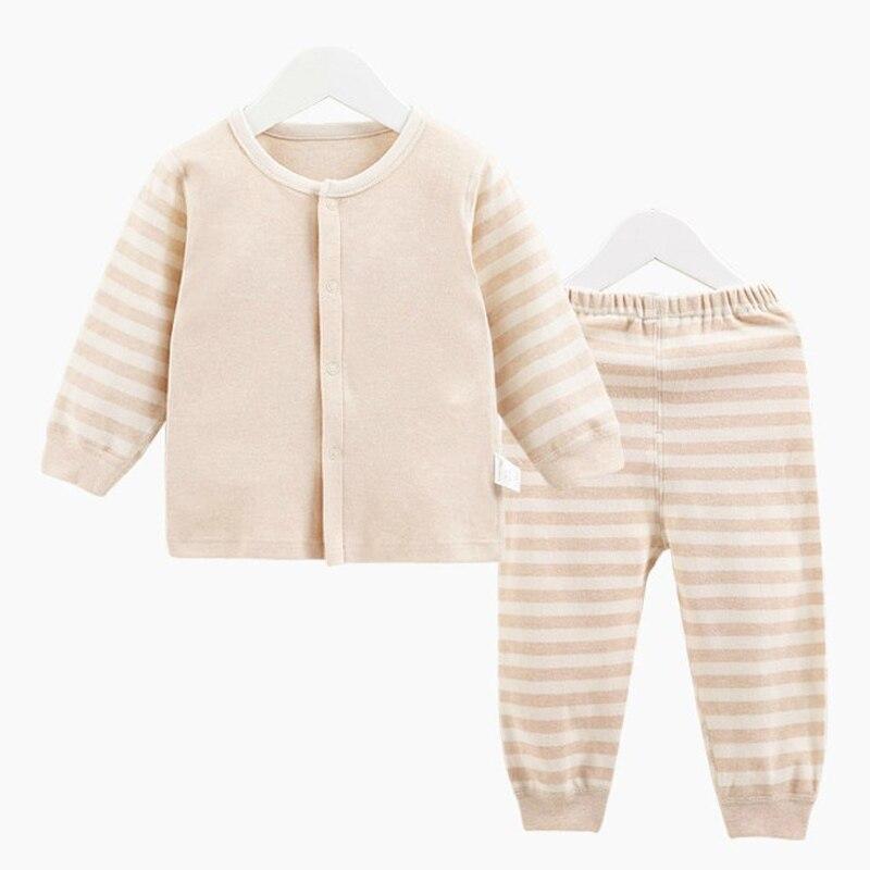 Organic Cotton Baby Boy Girl Long Sleeve Clothing Set,Unisex Striped Newborn Baby T-Shirt + Pants Suit Set Gift Retail YJM204<br><br>Aliexpress