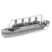 Titanic Ship Fun 3d Metal Diy Steel Scale Miniature Model Kids Puzzle Toys Assemble Jigsaw Adult Hobby Kits Hot