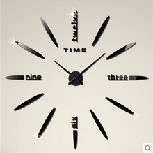 New Year New Decoration DIY Wall Clock Personalized Fashion Digital Clock Brief Pocket Watch Quartz Wall Stick(China)