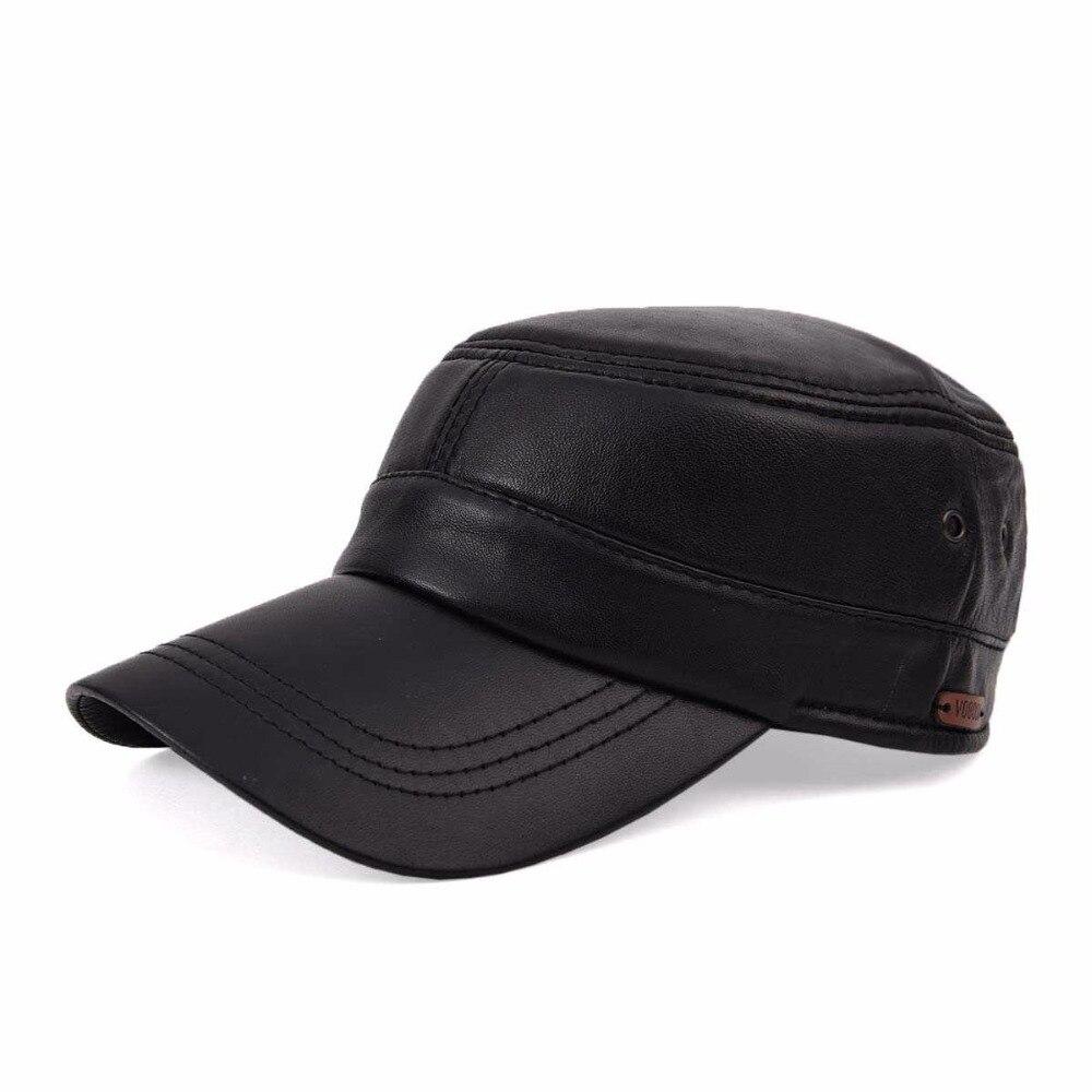 VOBOOM Autumn Winter Suede Sheepskin Hat Male Flat Cap Leather Mens Outdoor Leisure Leather Hat Cap MY1103<br><br>Aliexpress