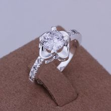 R147 Hot sale free shipping silver fine jewelry,Wholesale 925-Sterling-Silver charms fashion inlaid stone Sunflower Ring /b