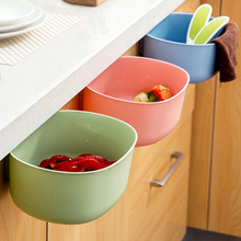 Plastic Kitchen Storage Hanging Basket Waste Bin Storage Basket Multifunction Desktop Storage Box Plastic Storage Basket Gadget(China)