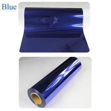 Premium Metallic heat transfer film for shirts Heat Transfer Vinyl PU material 50cm*80cm blue