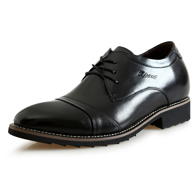 Zmp8881 New 2016 Style Oxford Dress Leather Shoes for Office Men Flats Shoes Height Increasing Zapatos Hombre Lacing Black/Brown<br><br>Aliexpress