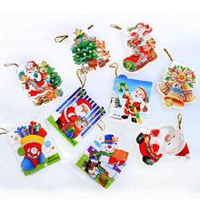 JETTING 12Pcs Merry Christmas Wish Cards Greeting Card sticker ornaments pendant Christmas tree Ornaments Fashion Gifts Xmas