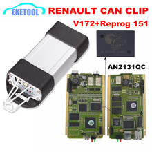 Best Quality Renault CAN Clip Diagnostic V172 Reprog 151 CYPRESS AN2131QC/AN2135SC Full Chip PCB Full System For Renault Clip(China)