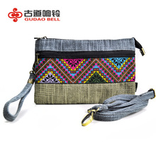 purse money bags new manufacturers supply China's breathable lightweight embroidery wallet casual ladies canvas phone bag mini(China)