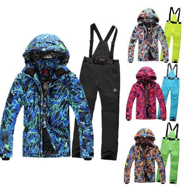 Free shipping 2015 men ski suit new Combination men ski jacket+men pants windproof waterproof ski wear<br><br>Aliexpress