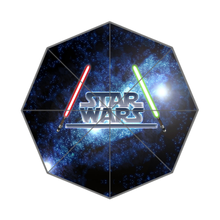2015 Hot Sale Custom Star Wars High Quality  Three Folding Sunny and Rainly Umbrella UMN16