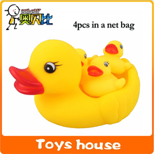 4pcs duck baby bath toys classic toys rubber duck brinquedos rubber toys for bathroom toys for swimming(China)