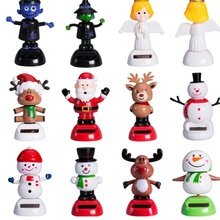 2017 New Brand Adorable Multi style Solar Powered Christmas Halloween Dancing Car Table Home Decor Gifts Kids Solar Power toy(China)