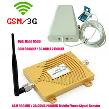 Full Set GSM 900 3G Cellular Signal Booster GSM 900mhz 3G UMTS 2100mhz Mobile Amplifier WCDMA 2100 Dual Band Repeater Extender