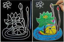 10pcs Educational Toys Large Magic Scratch Drawing Art Early learning 13*17CM(China)