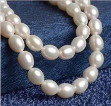 10x10 jewerly free shipping > Real Natural 32 inch Natural AAA+ South Sea White Pearl Necklace ok(China)