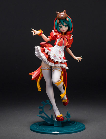 25cm  Japanese Anime Hatsune Miku Red Riding Hood Project DIVA 2nd PVC Action Figure Collectible Model Toy<br>