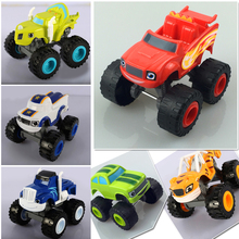 Blaze Monster Machines Russia blaze miracle cars Kid Toys Vehicle Car Figurine Doll Vinyl doll ornaments home decorations doll