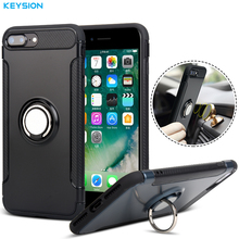 Buy KEYSION Case iPhone 8 8 Plus i7 7Plus Car Holder Stand Magnetic Suction Bracket Finger Ring TPU + PC Cover iPhone7 7plus for $5.99 in AliExpress store