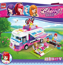 Low Price Enlighten Girl Series Outing Trip Bus 2004 Building Block Assemble DIY Action Figures Collect Brick Kid Toys Gift Set