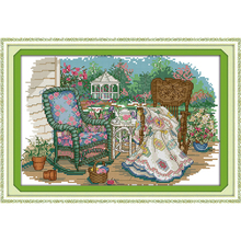 The grandmother's cane chair Needlework Cross Stitch Embroidery Kit series Cross-Stitching needle arts wall hanging europe