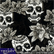 0.5M*10M FREE SHIPPING Skull Water Transfer Printing Film HS53-S,  Hydro Dipping Film ,Printing Hydrographics Film