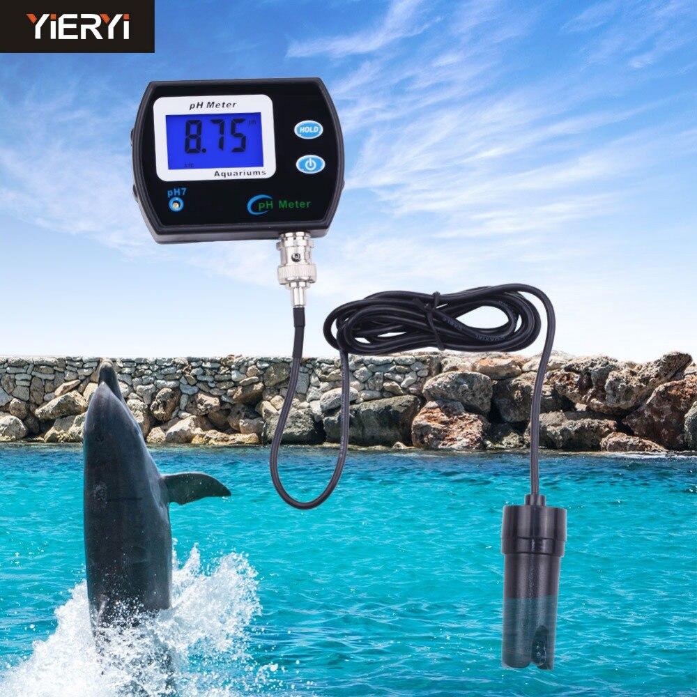 yieryi pH Meter Durable Acidimeter Analyzer with backlight pH-990 Resolution 0.01 ph tester for Aquarium Swimming pool water<br>