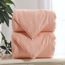 Comforter Set 2pcs 100% Mulberry Silk Filled Bedding Pure Natural Silk Quilt Duvet Blanket Cotton Cover Orange 2.5kg