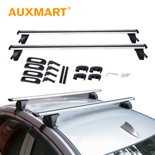 Auxmart Universal Car Roof Rack Cross Bar 125m Top Roof Boxes With Anti-theft Lock Load Cargo Luggage Outdoor Auto SUV 150LBS