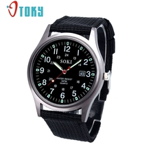 OTOKY Military Watch Men Quartz Analog Clock Canvas Strap Clock Man Sports Watches Army Relogios Masculino #20 Gift 1pc