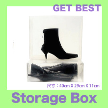 2pc/lot women's transparent boots shoes storage box 40x29x11cm(China)
