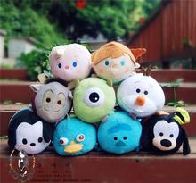 25 styles TSUM TUSM Pillow Soft Stuff Plush Toy Doll Big 30cm TSUM TSUM Plush Toy Stuffed Cartoon hold Pillow for Christmas Gift(China)