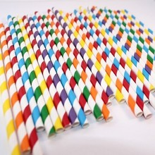 Wholesale party suppliers 5000 pcs colorful drinking paper straw strip drink paper straws for wedding decoration