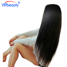 Vip beauty Indian straight hair 100% human hair weave bundles non-remy hair extension 1pcs only can buy 3 or 4 bundles(China)