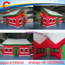 free air shipping to door,inflatable christmas house,inflatable santa claus tent,inflatable santa grotto(China)