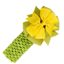 Headbands Bowknot Hair Accessories girl Hair band (yellow green white purple orange red beige)(China)