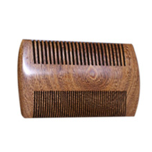 Men Green Sandalwood Pocket Beard & Hair Combs 2 Sizes Handmade Natural Wood Comb with Fine and Wide Tooth(China)