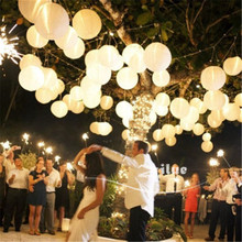 10pcs/lot 8 inch(20cm) White Colors paper lanterns home wedding decoration holiday party suppliers Marriage room decoration(China)