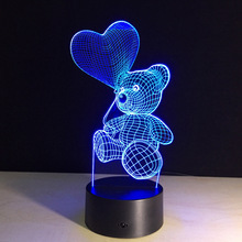 3D stereo LED balloon lamp manufacturers bear personalized cartoon creative lamp bedroom bedside night light atmosphere lamp