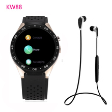 KingWear KW88 Android 5.1 Amoled 3G Smartwatch Phone MTK6580 Quad Core 1.39GHz GPS Gravity Sensor Pedometer Heart Rate Monitor