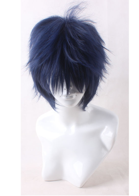 Top Quality Okumura Rin Blue Short Shaggy Layered Cosplay Anime Wig<br><br>Aliexpress