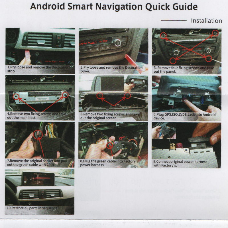 For BMW 5 Series F10 F11 2010~2012 LiisLee Car Multimedia GPS Audio Hi-Fi Radio Stereo Original Style For CIC Navigation NAVI 1