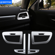 Car Styling Internal Air Condition Panel Sequins Rear Outlet Vent Sequins Rear Cup Holder Panel Dashboard For Renault Koleos2017(China)