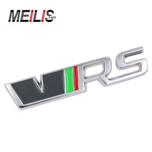Meilistar New 3D alloy car VRS  trunk barbecue logo stickers for a variety of car models stickers car stickers auto parts