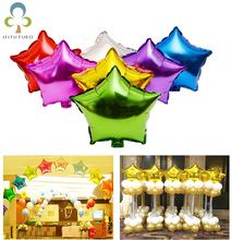 10pcs 10 inch Helium Balloon star Wedding Large aluminum Foil Balloons Inflatable gift Birthday baloon Party Decoration Ball GYH