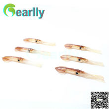 30 pcs/set 4 color promotion 10cm/4 inch soft squid jigs luminous brown fishing lure baits pesca inchiku parts(China)