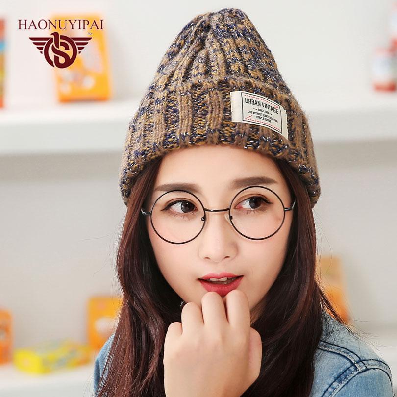 The New High-Quality Autumn Winter Mixing Line Knit Hats Fashion Striped Patch  Caps For Unisex Adult Casual Sport Beanies ZW040Îäåæäà è àêñåññóàðû<br><br><br>Aliexpress