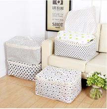 High Capacity Quilts Storage Boxes Simple style Printed cotton linen Organizater star, tree, dot Travel portable Storage Bags(China)