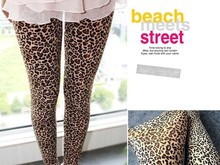 2017 New Hot sale sexy leopard Print Leggings stretchy slim pants women's fashion free shipping
