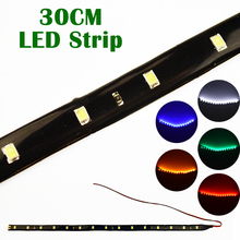 Waterproof LED Strip 30cm Super Bright Flexible Car Decoration Lamp (1 PCS)