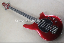 Free Shipping Top Quality Music 4 Strings Active Pickups Music Man StingRay Ernie ball Bass Bongo Red Bass Guitar(China)